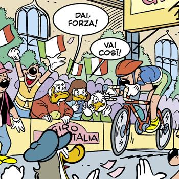 il giro d'italia è… su topolino!